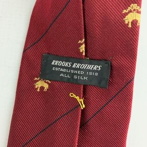 Brooks Brothers Accessories - Brooks Brothers Red Gold Silk Golden Fleece Symbol